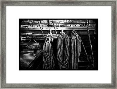Tall Ship Rigging Framed Print by Pixabay