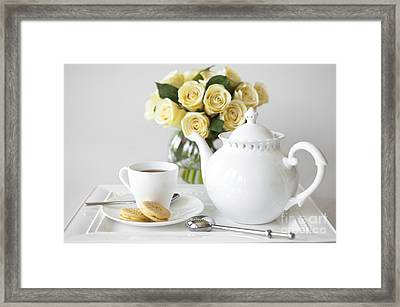 Tea And Cookies Framed Print by Diane Diederich