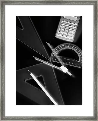 Technical Drawing Equipment Framed Print by Tek Image