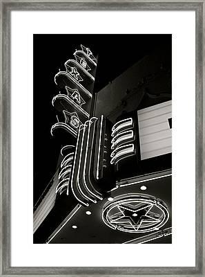 Texas Theatre Marquee Framed Print by John Babis
