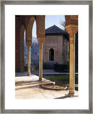 The Alhambra Palace Of The Partal Framed Print by Guido Montanes Castillo