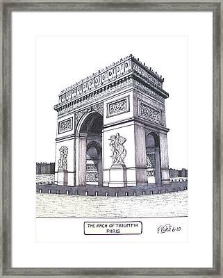 The Arch Of Triumph Framed Print by Frederic Kohli