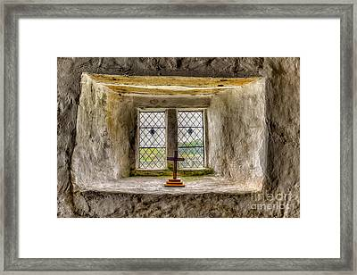 The Cross Framed Print by Adrian Evans