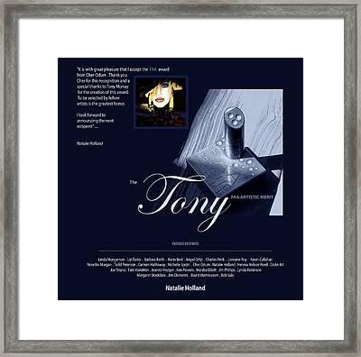 The Faa Artistic Merit Award Framed Print by Natalie Holland