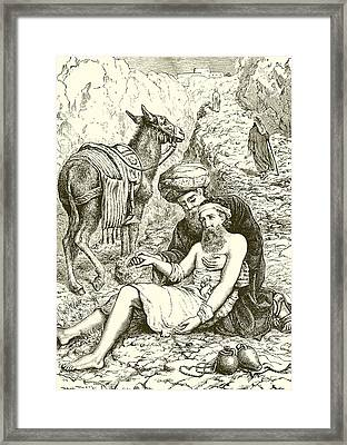 The Good Samaritan Framed Print by English School