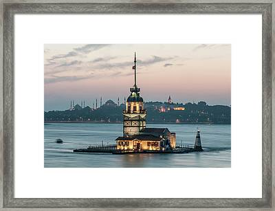 The Maiden's Tower Framed Print by Ayhan Altun