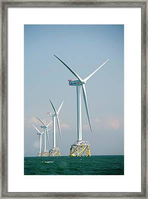 The Ormonde Offshore Wind Farm Framed Print by Ashley Cooper