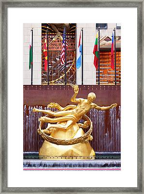 The Prometheus Statue (1934 Framed Print by Brian Jannsen