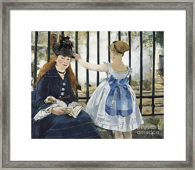 The Railway Framed Print by Edouard Manet