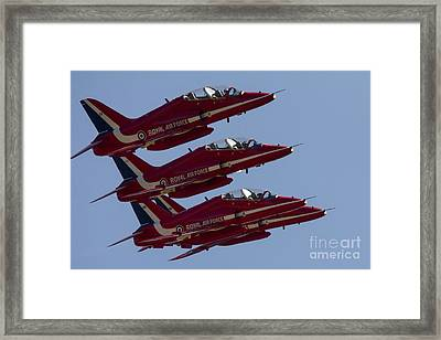 The Red Arrows Framed Print by J Biggadike