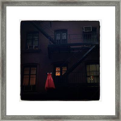 The Red Gown Framed Print by Natasha Marco