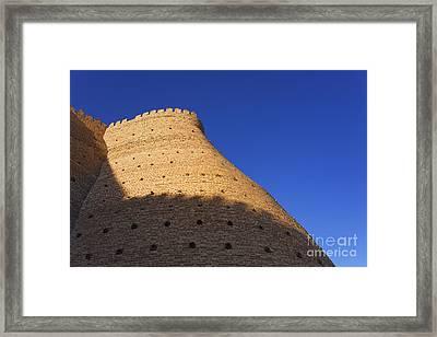 The Walls Of The Ark At Bukhara In Uzbekistan Framed Print by Robert Preston
