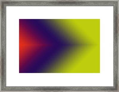 This Way Abstract Arrows Framed Print by Karen Nicholson