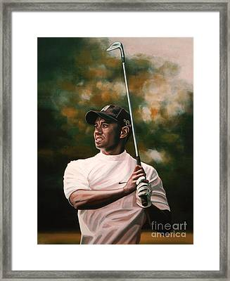 Tiger Woods  Framed Print by Paul Meijering