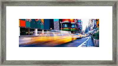 Times Square, Nyc, New York City, New Framed Print by Panoramic Images