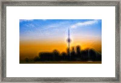 Toronto Skyline Framed Print by Sebastian Musial