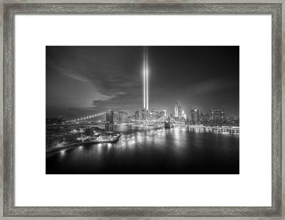 Tribute In Light Framed Print by Tim Drivas
