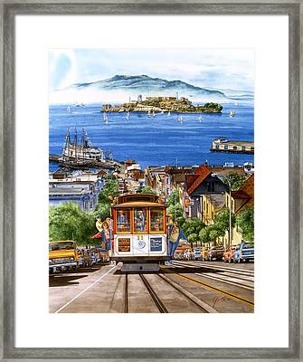 Trolley Of San Francisco Framed Print by John YATO