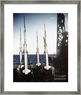 Us Navy Rockets 1958 Framed Print by Granger