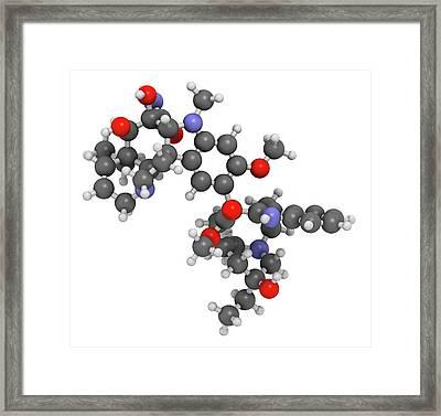 Vindesine Cancer Chemotherapy Drug Framed Print by Molekuul