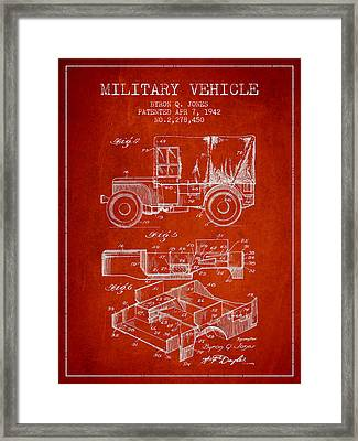 Vintage Military Vehicle Patent From 1942 Framed Print by Aged Pixel