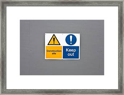 Warning Sign Framed Print by Tom Gowanlock