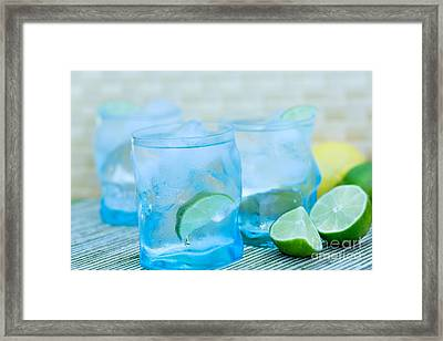 Water In Blue Framed Print by Iris Richardson