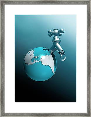 Water Shortage Framed Print by Victor Habbick Visions