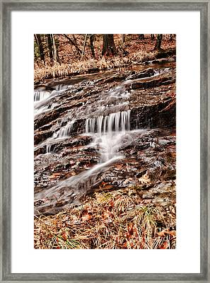 Waterfall  Framed Print by HD Connelly