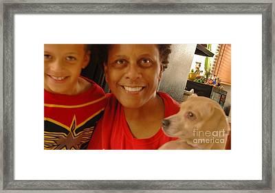 3 Way Selfie Framed Print by Angela J Wright