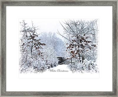 White Christmas Framed Print by Jessica Jenney
