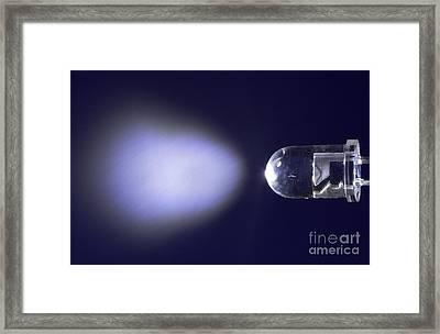 White Led Framed Print by GIPhotostock
