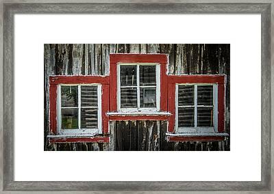 3 Windows Framed Print by Paul Freidlund