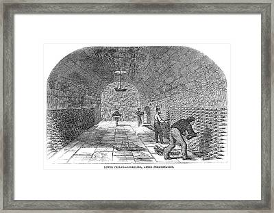 Winemaking Storage, 1866 Framed Print by Granger