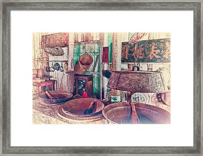 3-wok Kitchen Framed Print by Jim Thompson