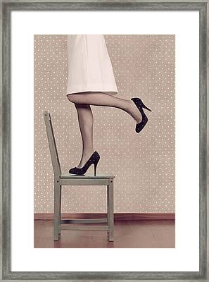 Woman On Chair Framed Print by Joana Kruse