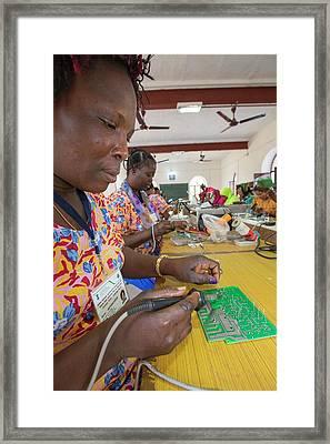Women On A Solar Workshop Framed Print by Ashley Cooper