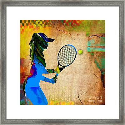 Womens Tennis Framed Print by Marvin Blaine
