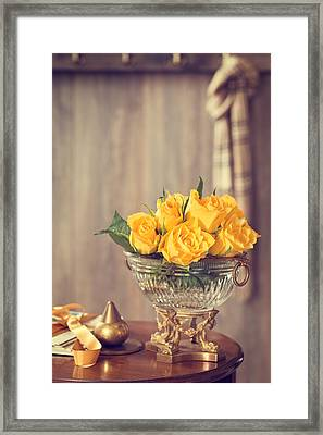 Yellow Roses Framed Print by Amanda Elwell