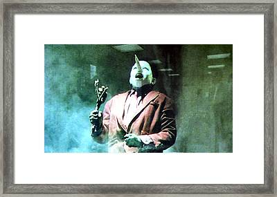 You've Been Gone Damn Near Two Years Framed Print by Luis Ludzska