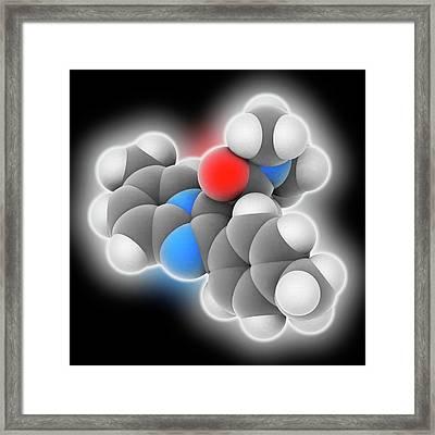 Zolpidem Drug Molecule Framed Print by Laguna Design