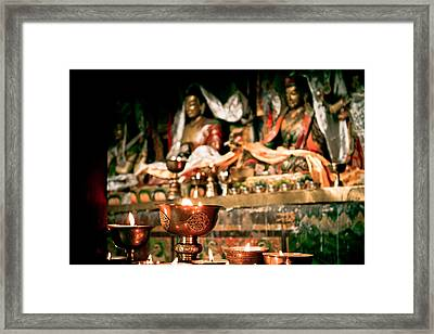 Zuthrul Phug Monastery Milarepas Cave Framed Print by Raimond Klavins