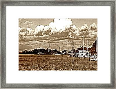 30 Percent Chance Of Rain Framed Print by Joseph Coulombe