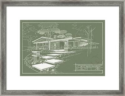 301 Cypress Drive - Moss Green Framed Print by Larry Hunter