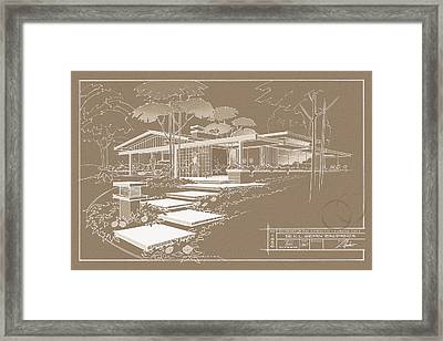301 Cypress Drive - Sepia Framed Print by Larry Hunter