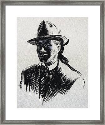Secret Agent Study 3 Framed Print by Robert Poole