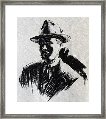 Secret Agent Study 2 Framed Print by Robert Poole