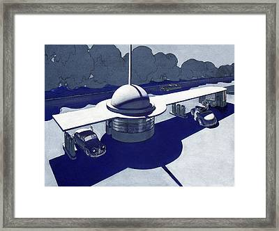 Roadside Of Tomorrow Framed Print by Robert Poole