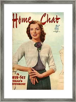 1950s Uk Home Chat Magazine Cover Framed Print by The Advertising Archives
