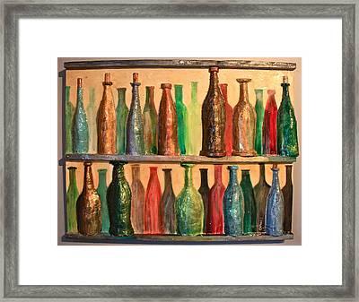 31 Bottles Framed Print by Mark Prescott Crannell